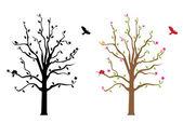 Décalque de mur arbre — Vecteur