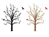 Decal parete albero — Vettoriale Stock