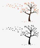 Ağaç duvar çıkartma — Stok Vektör