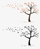 Tree Wall Decal — Stock vektor