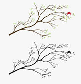 Tree Wall Decal — Stock Vector