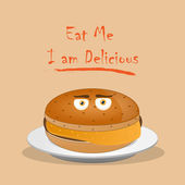 Eat Me i am delicious — Vector de stock