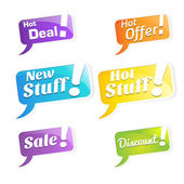 Hot Deals Tags and Labels — Stockvektor