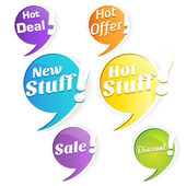 Hot Deals Tags and Labels — ストックベクタ