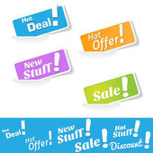 Hot Deals Tags and Labels — Stock Vector