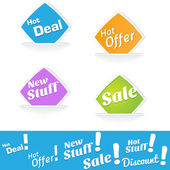 Hot Deals Tags and Labels — Stockvector