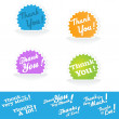 Thank You Tag - Stock Vector