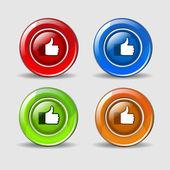 Like Dislike Icon — Stock Vector