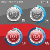 Hitech Glossy Counter — Stock Vector
