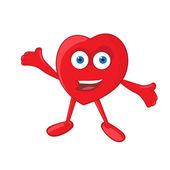 Hjärtat maskot — Stockvektor
