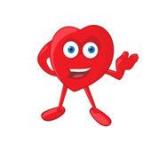 Heart Mascot — Stock Vector