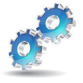 3D Mechanical Gear Vector Icon — Stock Vector
