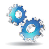 ícone de vetor de engrenagem mecânica 3d — Vetorial Stock