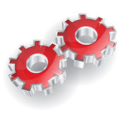 3D Mechanical Gear Vector Icon — Stock Vector