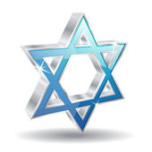 3d Glossy Vector Jewish Icon — Stock Vector
