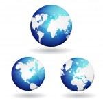 3d World Map Vector Icon — Stock Vector #21423699