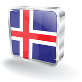 3d Iceland Flag Vector Icon — Stock Vector