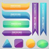 Icono de botón de forma brillante brillante — Vector de stock