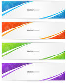 Colorful Web Banner — Stock Vector