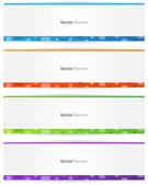 Kleurrijke webbanner — Stockvector