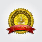 Gloden seal 1 Year Guarantee — Stock Vector