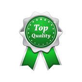 Sceau vert platine de qualité supérieure argent — Vecteur