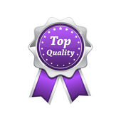 Top Quality Silver Platinum Violet Seal — Stock Vector