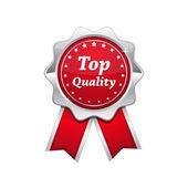 Sceau rouge platine de qualité supérieure argent — Vecteur