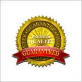 Golden Premium Quality Vector Seal Icon — Stock Vector