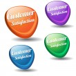 Customer Satisfaction Colorful Modern Vector Icon — Stock Vector