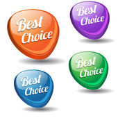 Best Choice Colorful Modern Vector Icon — Stok Vektör