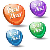 Best Deal Colorful Modern Vector Icon — Stock Vector