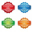 Stock Vector: Limited Time Offer Tag icon