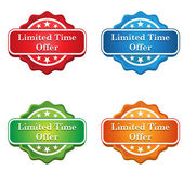 Limited Time Offer Tag icon — Stock Vector