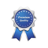 Premium Quality Blue Seal Vector Icon — Stock Vector