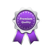 Premium Quality Violet Seal Vector Icon — Stock Vector