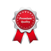 Premium Quality Red Seal Vector Icon — Stock Vector