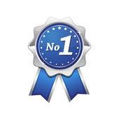 1 青いシールないベクトル アイコン — ストックベクタ