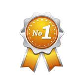 No 1 Yellow Seal vector Icon — Stock Vector