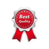 Best Quality Silver Platinum Red Seal — Stock Vector