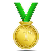 Gold Medal 1st Position Vector — Stock Vector