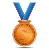 Bronze Medal 3rd Position Vector Icon — Stock Vector