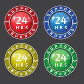 24 godziny wsparcia ikona wektor — Wektor stockowy