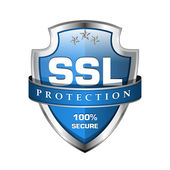 SSL Protection Secure Shield Icon — Stock Vector
