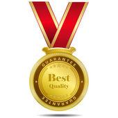 Bästa kvalitet guld medalj — Stockvektor