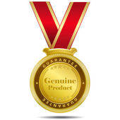 Genuine Product Gold Medal — Vettoriale Stock