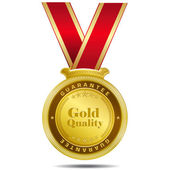 золото качества золотая медаль — Cтоковый вектор