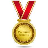 Premium Quality Gold Medal — Vettoriale Stock