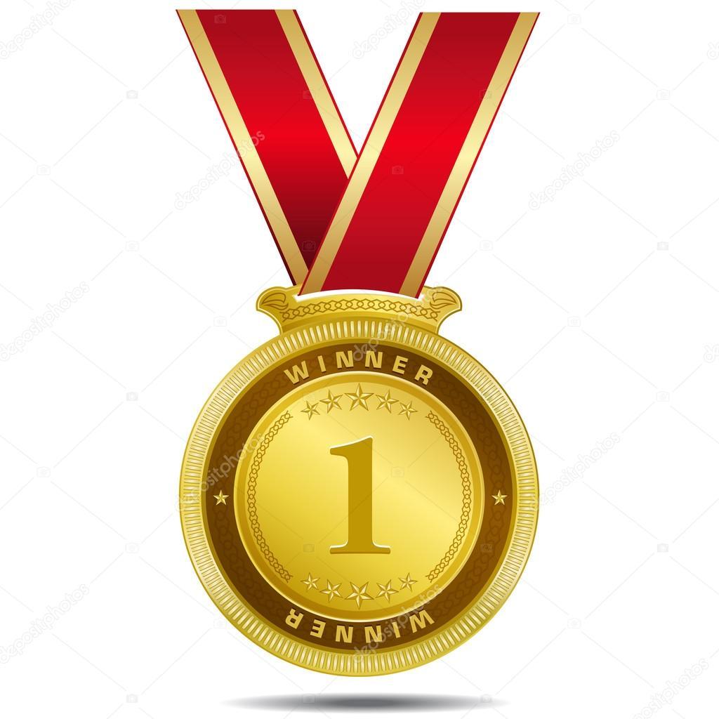 Winner Gold Medal Vector Design — Stock Vector ...