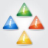 Information Vector Icon Design Set — Stock Vector